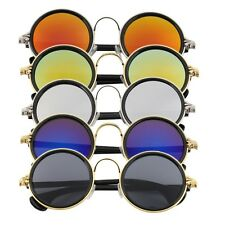 Hot Women Men Unisex Fashion Vintage Retro Round Mirror Lens Sunglasses ST