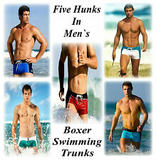 Mens Sexy Boxer Swimwear with Tie Lassels  M/L Pos Gay Int 5 Col Show off HTF