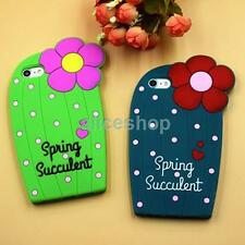Cute Polka Dots Flower Cactus Soft Silicone Soft Case Cover for iPhone 6 6S Plus