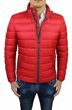 MAN'S WINTER COAT WOOLRICH Art. WKCPS1750 JACKET BOMBER RED FEATHER GOOSE BUMPS