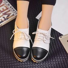 Womens Leather High Heels Wedges Platforms Multi-colored  Shoes Plus Size 5-10.5