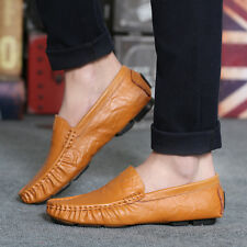 Genuine Leather Men Shoes Soft Moccasins Loafers Fashion Comfy Driving Flats