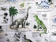 DINOSAUR QUILT ~ TWIN or FULL QUILT ~ SHEETS ~ DINOSAURS ~1-9PC ~ PREHISTORIC