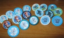 New FROZEN Themed Bottlecap Pins Your Choice-Elsa, Anna, Olaf & 3 Quotes
