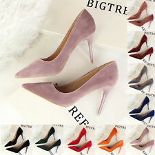 Lady New Fashion Shallow Suede Stiletto Pointed Toe Shoes Women High Heels Pumps