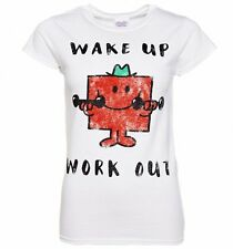 Official Women's Mr Strong Wake Up Work Out Mr Men T-Shirt