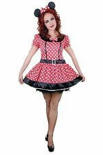ADULT SEXY WOMEN'S MINNIE MOUSE COSTUME HEN NIGHT FANCY DRESS OUTFIT