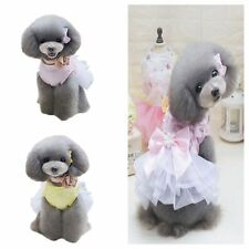 Pet Dog Cat Princess Tutu Dress Puppy Bowknot Lace Butterfly Skirt Party Clothes