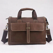New Retro Men's Real Top Cow Leather Bags Messenger Bags Tote Briefcase Laptop
