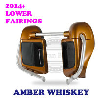 Amber Whiskey Lower Vented Fairing for Harley 2014-17 Road Street Electra Glide