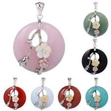 40mm Charm Natural Crystal Healing Mixed Gemstone Pendant for DIY Chain Necklace