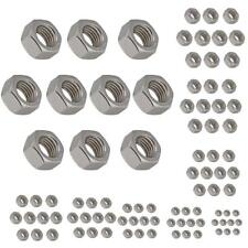 10Pcs 304 Stainless Steel Hex Hexagon Nuts Threads Bolts Fasteners For Screws