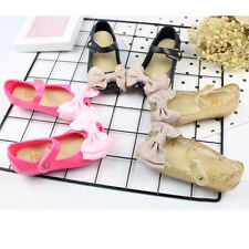 Fashion Cute Bow tie Strap Shoes Kid Girls Summer Jelly Shoes Soft Beach Sandals