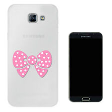 C1583 Pink bow polka dots Case Gel Cover For Samsung iphone ipod LG HTC