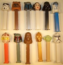 1999-2002 STAR WARS PEZ DISPENSERS LUKE,EWOK,BOBA,JANGO,CLONE TROOPER,R2-D2