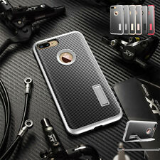 Hybrid Shockproof Carbon Fiber Armor Kickstand Cover Case For Iphone 6S 7 Plus