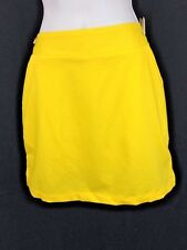 WOMENS LOUDMOUTH ELEMENTS GOLF SKORT SKIRT MULTI SIZES LEMON CHROME NWT