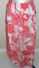 ROXY Women's Coral Floral Print Maxi Skirt Size M
