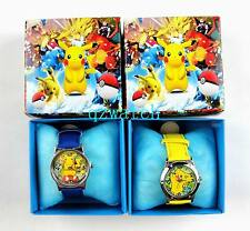 New 5/10/20/30 PCS Pokemon Pikachu Kids Cartoon Watches W/Gift boxes Wholesale