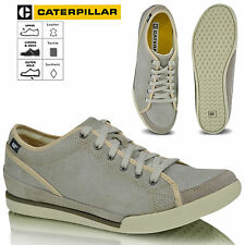 CAT Jed Smoke Mens Caterpillar Casual Leather Cushioned Lace Up Trainers Shoes