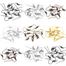 Wholesale NEW DIY 100PCS Earring Hook Coil Ear Wire For Jewelry Making