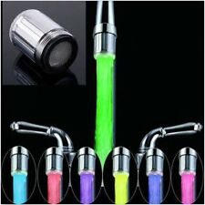 LED Water Faucet Stream Light Changing Glow Shower Stream Tap + Faucet HOT R8