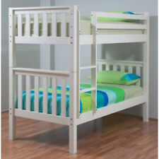 Sussex Single KingSingle White Timber Bunk Bed Cabin With/Without Trundle Kids