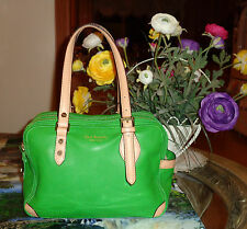 AUTHENTIC LOVELY ISAAC MIZRARI GREEN LEATHER TOTE/SHOPPER HANDBAG