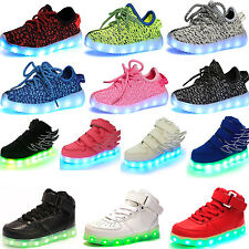 Flash Children Boys Girls kids LED Light Running Sneakers Baby Mesh Shoe Toddler