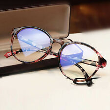 Women Clear Transparent Optical Glasses Frame Eyeglasses With Clear Glass