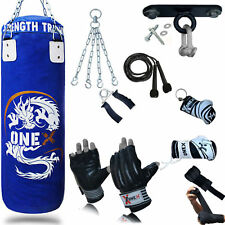 NEW 3FT Filled Heavy Punch Bag Buyer Build Set|BracketGloves| Free Hanging Chain