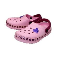Childrens rubber clog sandals with flower edging Girls