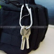 Stainless Steel Carabiner Gourd-type Anti-theft Hook Buckle Clip Keychain Opener