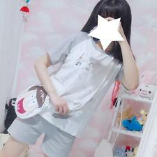 Women's Poodle Cat Kitty Pattern Cute Gray Short Sleeves T-Shirt Tops Shorts