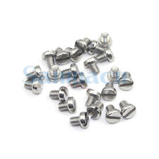 20pcs M5 304 Stainless Steel Slotted Cheese Head Machine Screws DIN 84