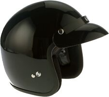Viper RS-04 Open Face Motorbike Motorcycle Helmet Scooter Gloss Black Retro MOD