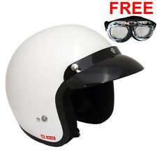 Viper RS-04 Open Face Motorbike Motorcycle Helmet Scooter White Touring MOD