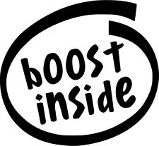 Boost Inside Vinyl Sticker Decal Drift Race JDM - Choose Size & Color