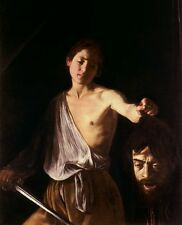Classic Italian Renaissance Religious Art Print - David with the Head of Goliath