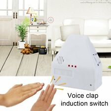 110V/220V Electronic Gadget Hand Light Switches Clapper Sound Activated #L