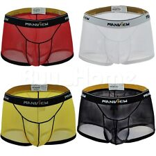 Mens Pouch Mesh Briefs Underwear Bikini Boxer Brief Underpants Shorts M L XL XXL