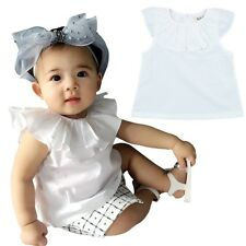 Toddler Baby Girls Summer Casual Sleeveless T-shirt Tops Blouse Clothes 5M-3Y