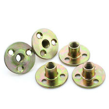 5Pcs M8 M10 Furniture Nuts Iron Plate Nut 3 Hole Lock nuts Plating Color Zinc