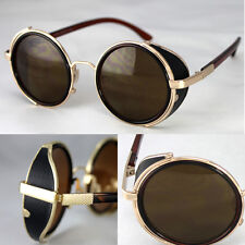 50s Round Glasses Steampunk Sunglasses Cyber Goggles Vintage Retro Style Blinder
