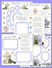 Bee Premade Scrapbook Pages Layout 12x12 Album Book Baby Girl Gift Ultrasound