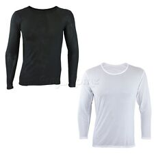 Stylish Long Sleeve Mesh Sheer Muscle Fit T-Shirt for Men Nightwear Undershirt