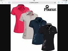 Pikeur Ladies Yvonne Polo Shirt Grey Size 38 UK 10