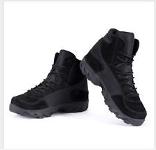 Outdoor Mens Cow Leather High Top Military Combat Boots Special Forces Desert