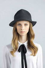 Unique Designed Fashionable Felt Fedora straw Classic Raffia Black Hat Handmade