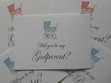 WILL YOU BE MY Christening Godparent card + envelope - Personalised